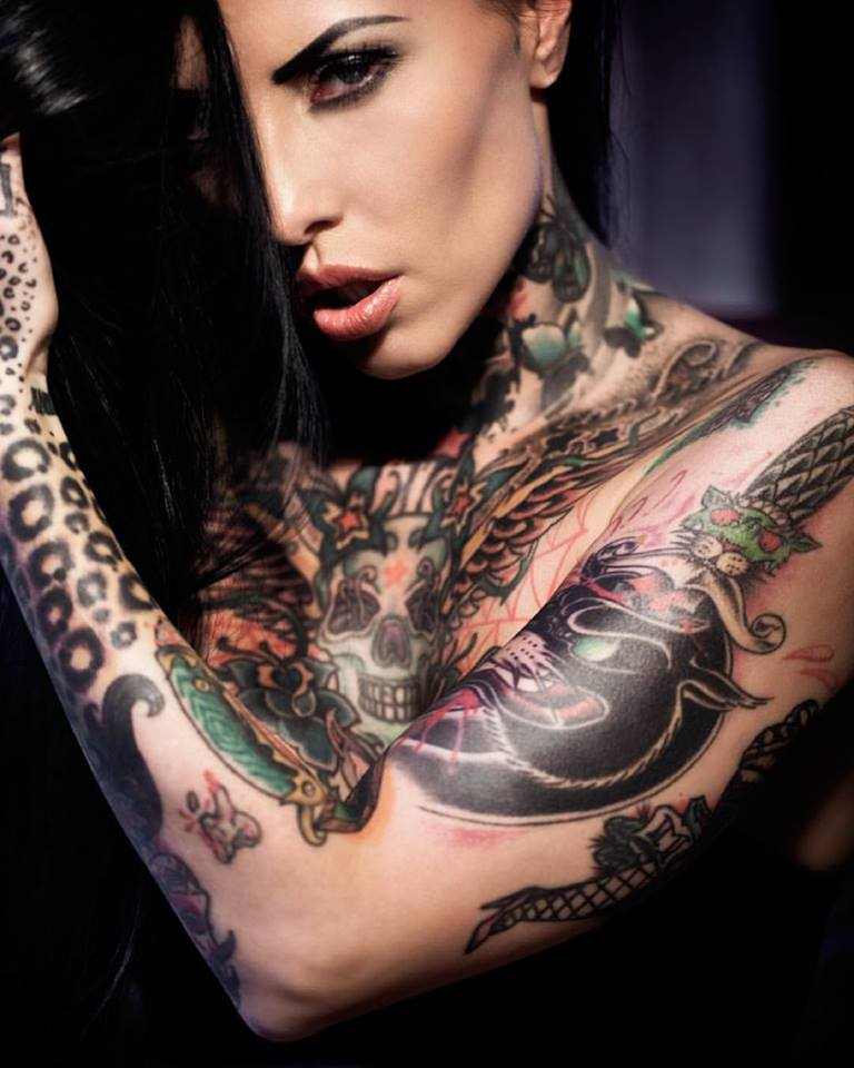 Tattoomodels makani terror alternative model from germany for Tattoo shops hiring front desk